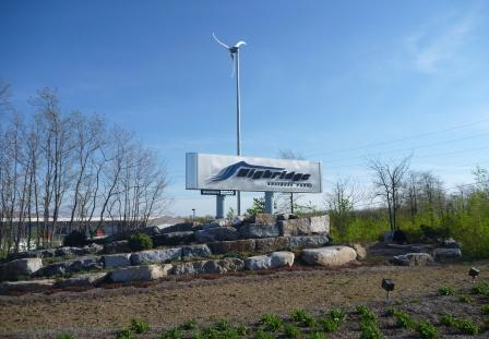 SEDCO Skystream After Landscaping and lighting.